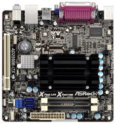 Плата Asrock AD2550B-ITX CPU Atom integrated Intel NM10 DDR3 mini-ITX AC`97 6ch(5.1) LAN SATA2 VGA+COM+LPT
