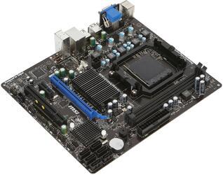 Плата MSI Socket-AM3+ 760GM-P23 (FX) AMD760G/SB710 2xDDR3-1333 PCI-E 8ch 6xSATA RAID DVI/DSub GLAN mATX