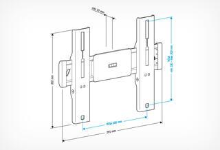 Кронштейн для телевизора Holder LCD-F2610-B