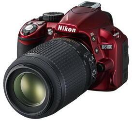 Зеркальная камера Nikon D3100 Kit 18-105mm VR красный