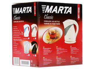 Электрочайник Marta MT-1028 белый, голубой