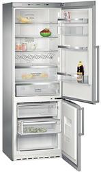 Холодильник с морозильником Siemens KG49NAZ22R серебристый