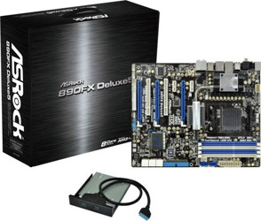 Плата ASRock Socket-AM3+ 890FX Deluxe5 AMD890FX/SB850 4xDDR3-2000 3xPCI-E2.0 8ch 8xSATA3 RAID 4xUSB3 IDE eSATA3 1394 GLAN ATX
