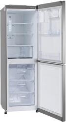 Холодильник с морозильником LG GC-B379SLQA серебристый