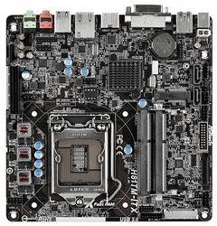 Плата ASRock LGA1150 H81TM-ITX H81 2xDDR3 SODIMM DVI/HDMI 8ch 2xSATA3 2xUSB3 GLAN mini-ITX