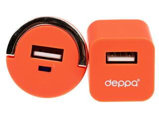 Сетевое + автомобильное зарядное устройство Deppa Ultra Colour 11160