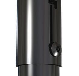 Штанга Wize EA46 120-180 см с кабельным каналом, черная