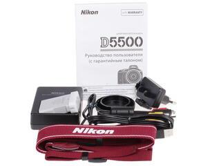 Зеркальная камера Nikon D5500 Body красный