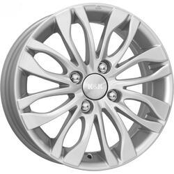 Автомобильный диск Литой K&K Канзаши 5,5x14 4/108 ET 16 DIA 65,1 Блэк платинум