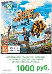 Карта оплаты подписки Xbox LIVE 1000