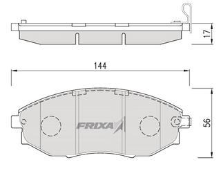 Тормозные колодки Hankook Frixa FPD14