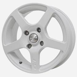 Автомобильный диск литой Скад Омега 6,5x15 4/112 ET 45 DIA 67,1 белый