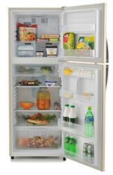 Холодильник с морозильником Sharp SJ391VBE бежевый