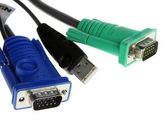 Шнур, мон+клав+мышь USB, SPHD15=\>HD DB15+USB A-Тип