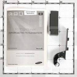Холодильник с морозильником Samsung RB33J3420SS/WT серебристый
