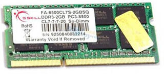 Память SODIMM DDR3 2048MB PC8500 1066MHz G.skill