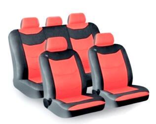 Чехол на сиденье H&R FUSION кракле, красный/черный