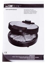 Вафельница Clatronic WA 3492 серебристый