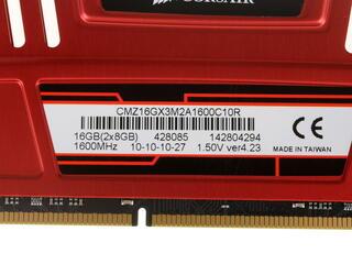 Оперативная память Corsair Vengeance [CMZ16GX3M2A1600C10R] 16 ГБ