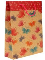Пакет подарочный Бабочки