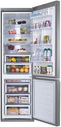 Холодильник с морозильником Samsung RL57TEBIH серебристый