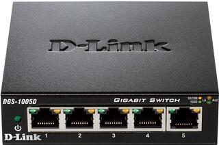 Коммутатор D-Link DGS-1005D/G2 5x10/100/1000Base-T, Unmanaged