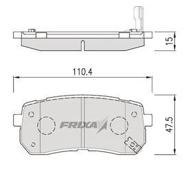 Тормозные колодки Hankook Frixa FPH19R