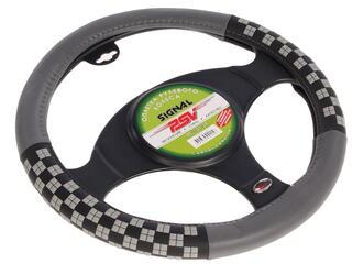Оплетка на руль PSV SIGNAL серый