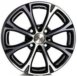 Автомобильный диск литой K&K Блюз 6x15 4/108 ET 45 DIA 67,1 Алмаз черный