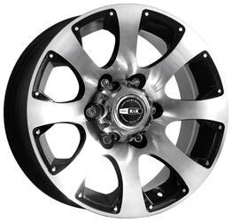 Автомобильный диск  K&K Дакар-2 7,5x16 6/139,7 ET 15 DIA 100,1 Алмаз черный
