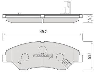 Тормозные колодки Hankook Frixa FPK07N