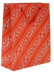 Пакет подарочный Узоры на красном