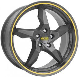Автомобильный диск Литой Dotz Touge 8x18 5/110 ET 35 DIA 65,1 Graphite