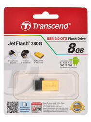 Память OTG USB Flash Transcend JETFLASH 380g  8 Гб