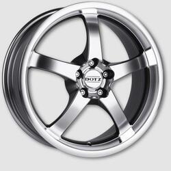Автомобильный диск Литой Dotz Daytona 7,5x17 5/100 ET 35 DIA 60,1 Dark