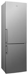 Холодильник с морозильником Candy CBNA 6185X серебристый