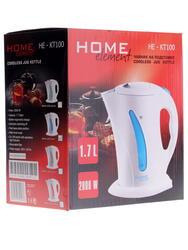 Электрочайник Home Element HE-KT100 белый, голубой