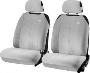 Накидка на сиденье H&R SUPER MALIBU FRONT передняя, велюр букле, св.серая