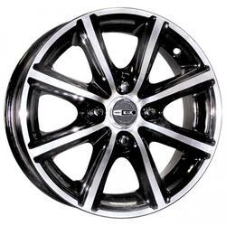 Автомобильный диск Литой K&K Конкур 5,5x14 4/114,3 ET 45 DIA 67,1 Алмаз черный