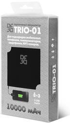 Портативный аккумулятор DF Trio-01 черный