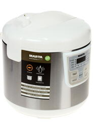 Мультиварка Marta MT-1971 белый, серебристый