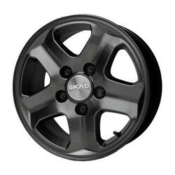 Автомобильный диск Литой Скад Конкорд 7x16 5/130 ET 43 DIA 84,2 Черный матовый