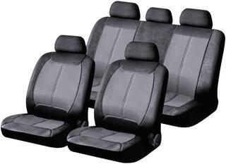 Чехол на сиденье H&R MATADOR-NEW иск.кожа, серый/черный