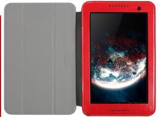 Чехол-книжка для планшета Lenovo IdeaTab A5500 красный