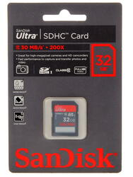 Карта памяти SanDisk Ultra SDSDU-032G SDHC 32 Гб