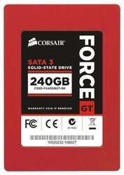 "Твердотельный накопитель SSD 2.5"" SATA-3 240Gb Corsair GT [CSSD-F240GBGT-BK] SandForce SF2281 (R555/W525MB/s) ToggleNAND"