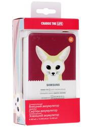 Портативный аккумулятор Samsung Animal edition EB-PG850BPRGRU белый, розовый