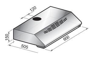 Вытяжка подвесная Korting KHT 6230 X серебристый