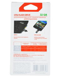 Память OTG USB Flash InterStep  32 ГБ