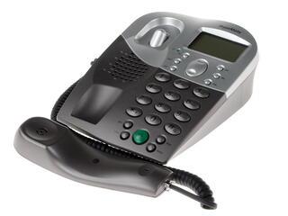 IP-телефон SkypeMate USB-P4K черный, белый, серый